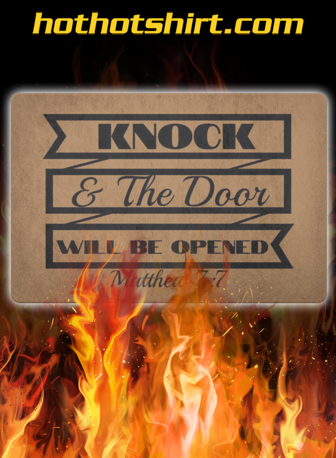 Knock and the door will be opened doormat- pic 2