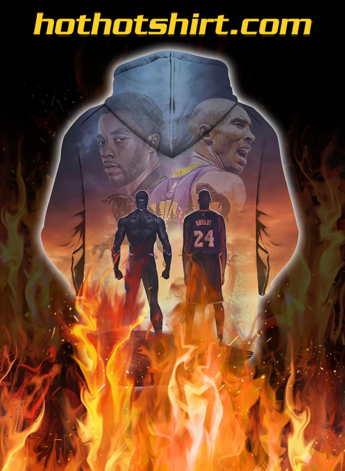 Kobe bryant and chadwick boseman 3d fullprint hoodie- back