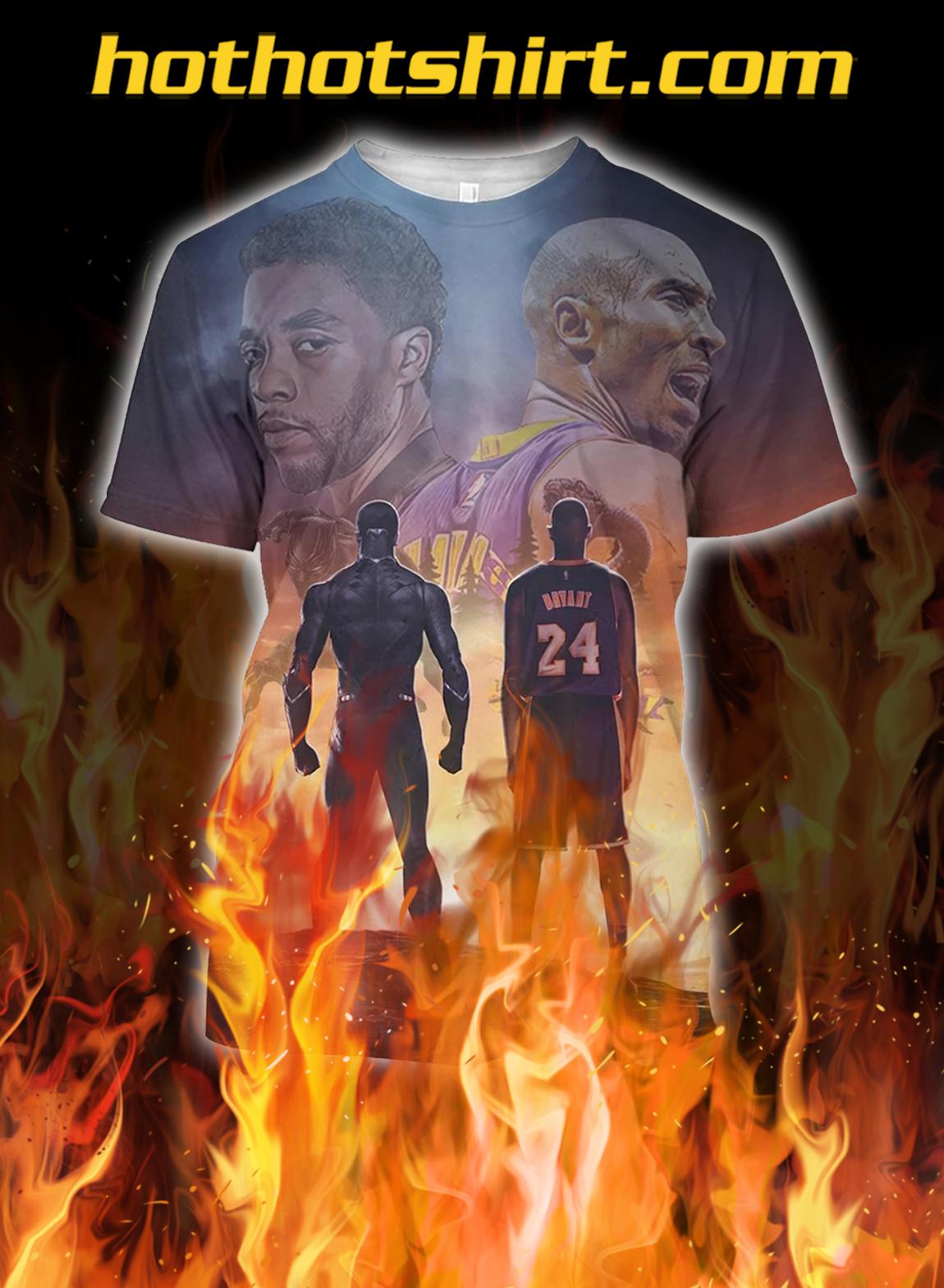 Kobe bryant and chadwick boseman 3d fullprint shirt