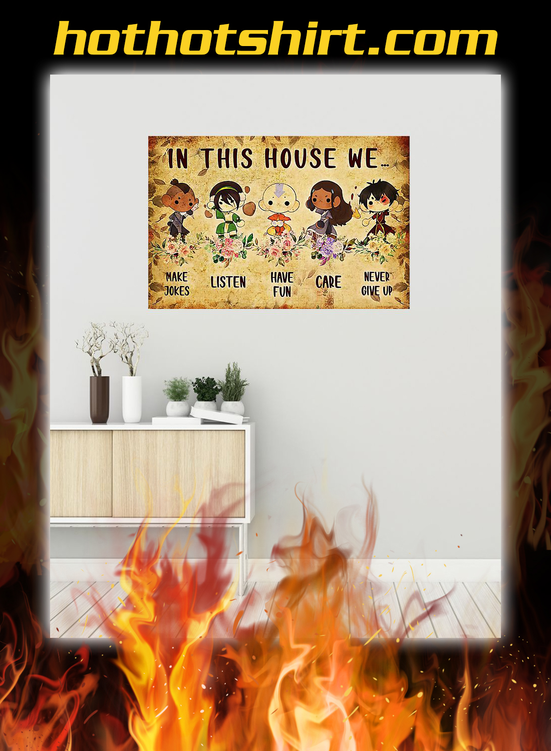 Last airbender in this house we poster 1