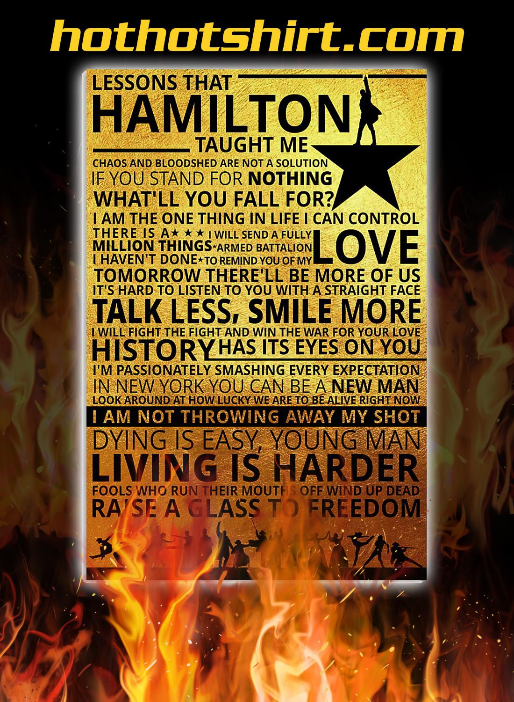 Lessons hamilton taught me poster 1