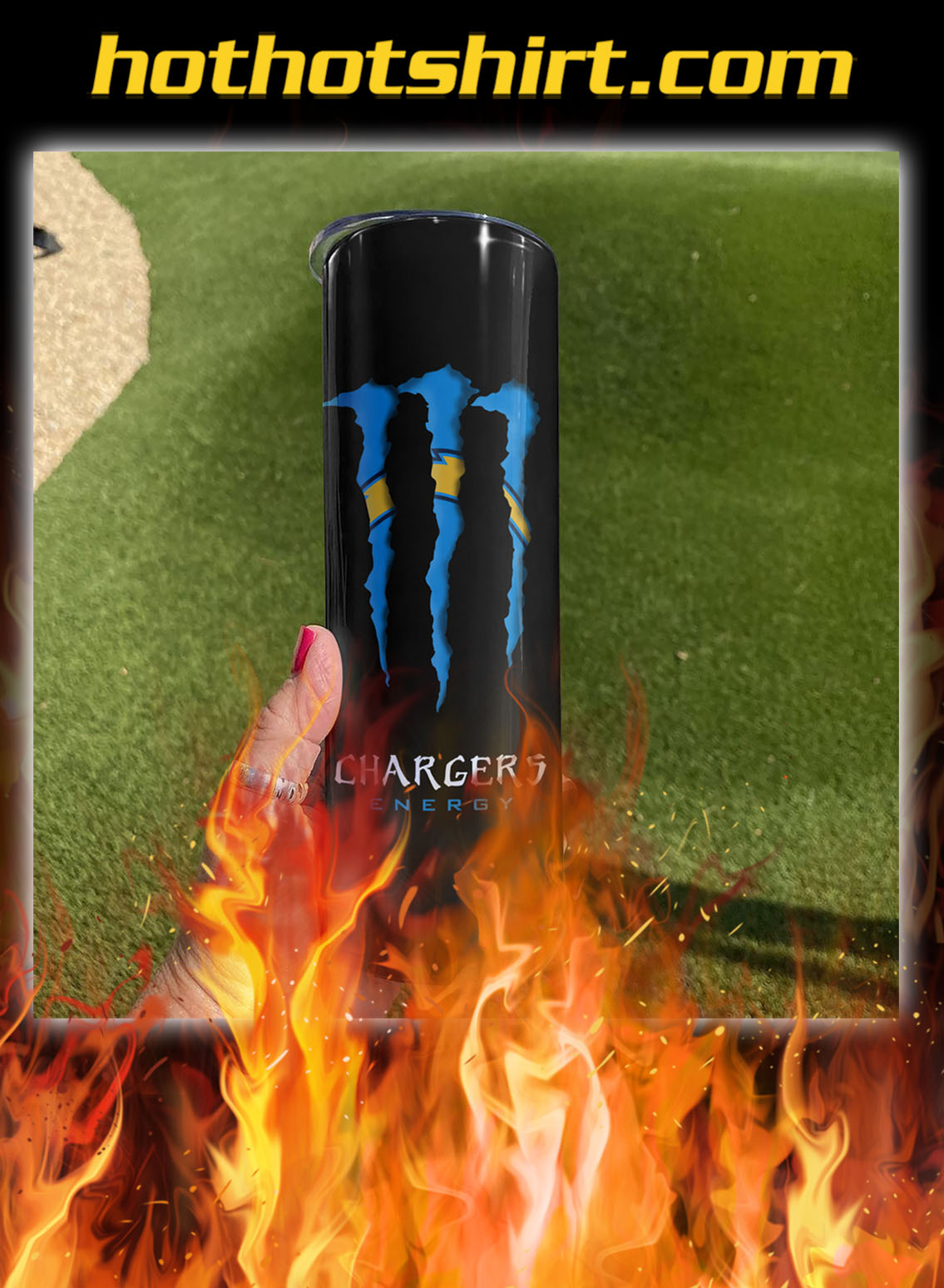 Los angeles chargers energy skinny tumbler- pic 1