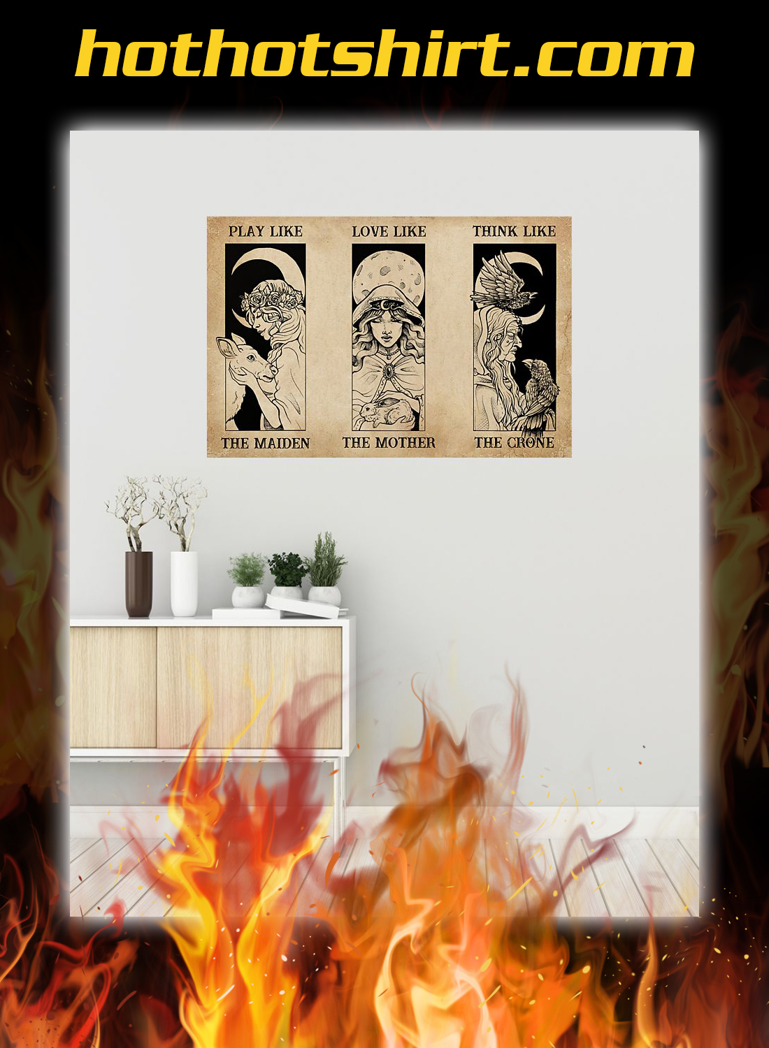 Maiden mother crone witch poster 1