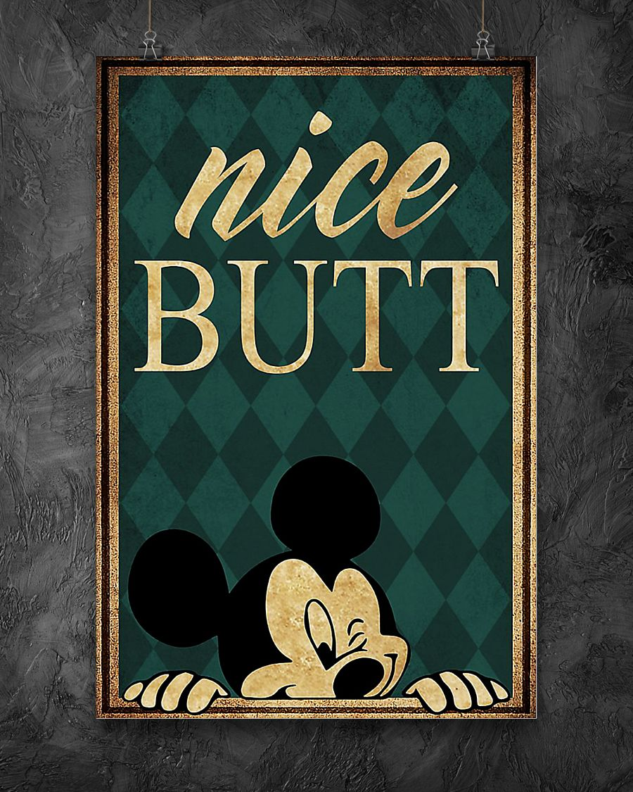 Mickey mouse nice butt poster 3