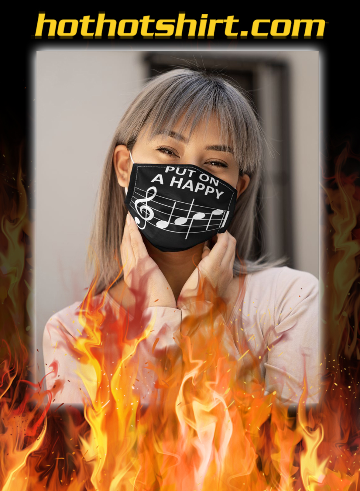 Music put on a happy face mask- pic 1