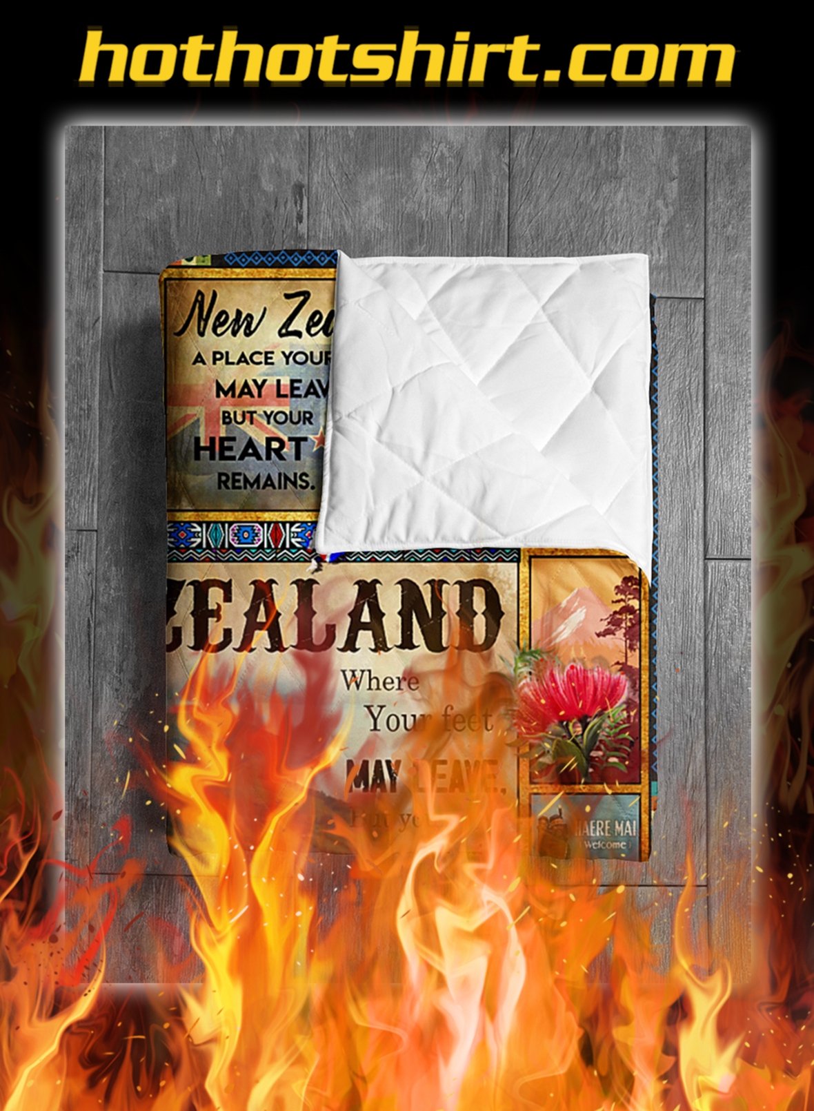 New zealand where love is quilt blanket- king