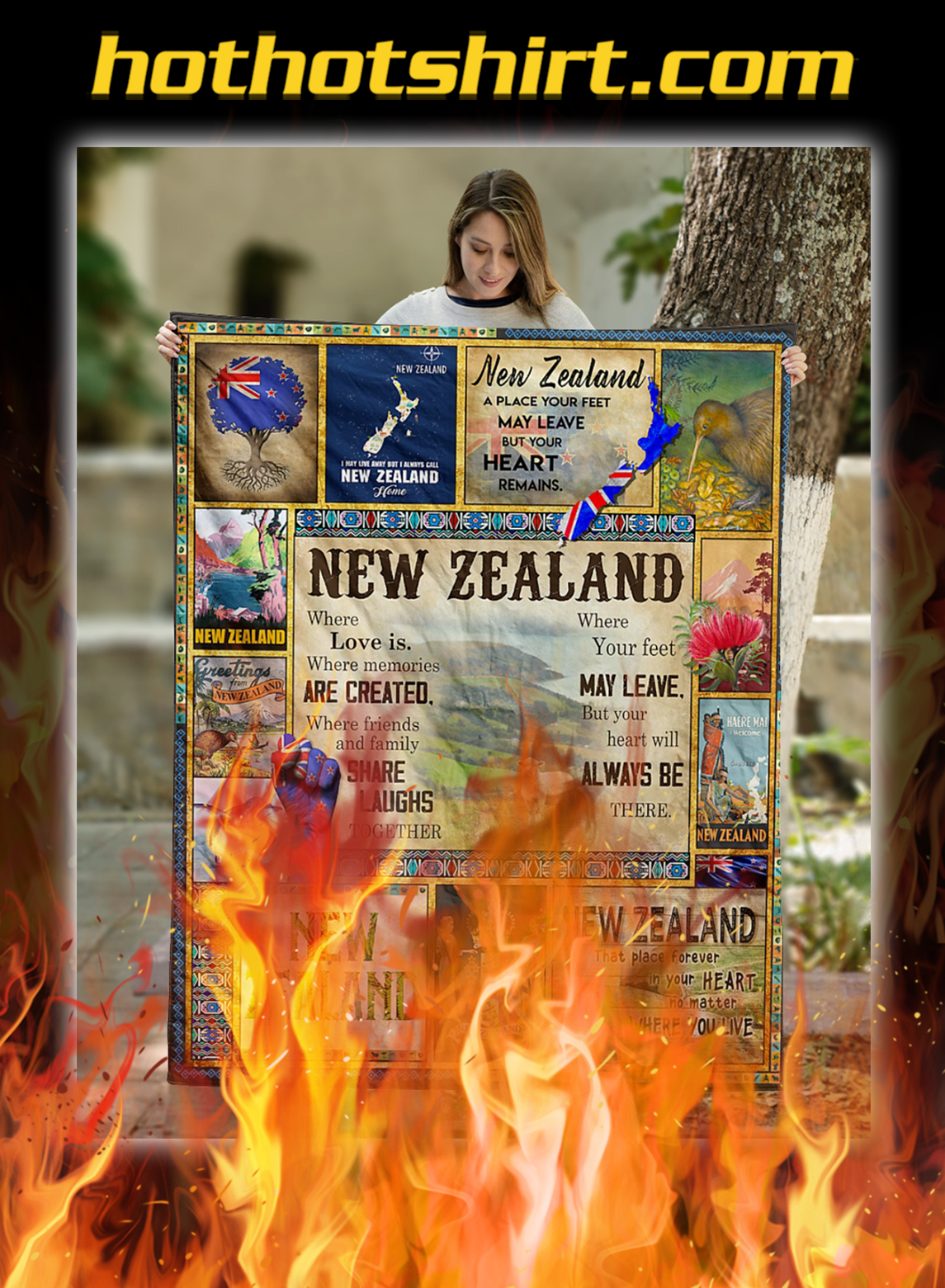 New zealand where love is quilt blanket- twin