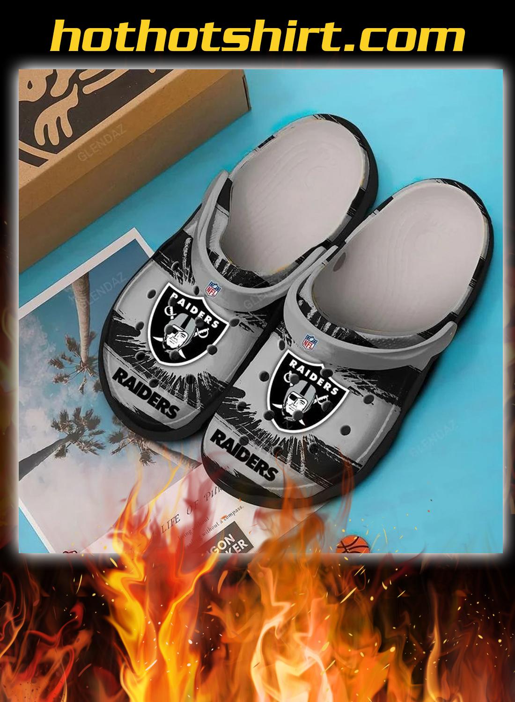 Oakland raiders crocband crocs shoes 1
