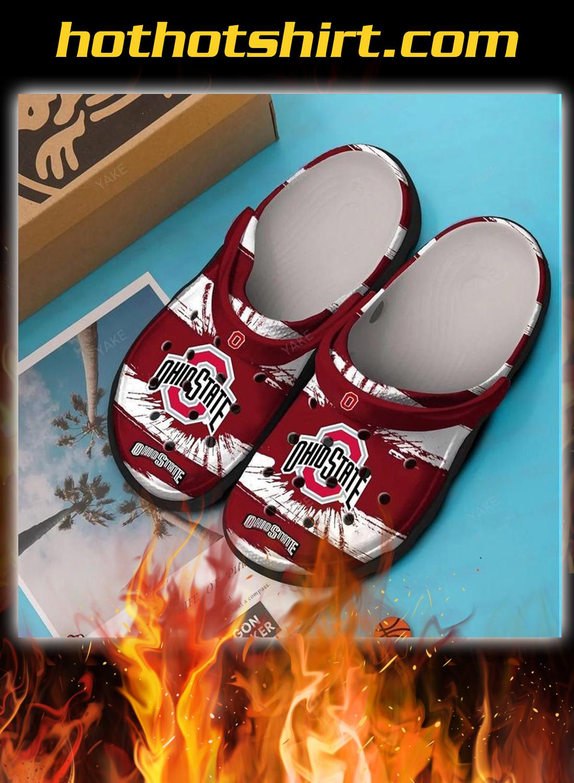 Ohio state crocband crocs shoes 1
