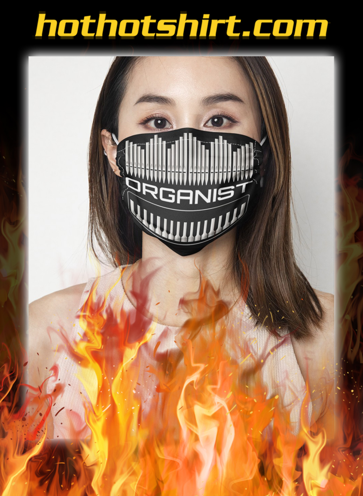 Organist face mask- pic 1