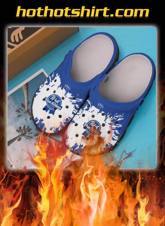 Pabst blue ribbon crocband crocs shoes- pic 1