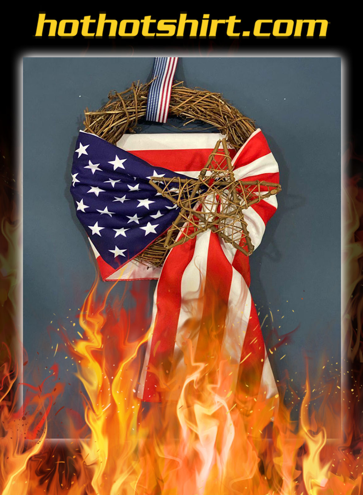 Patriotic Vintage Wreath- pic 1