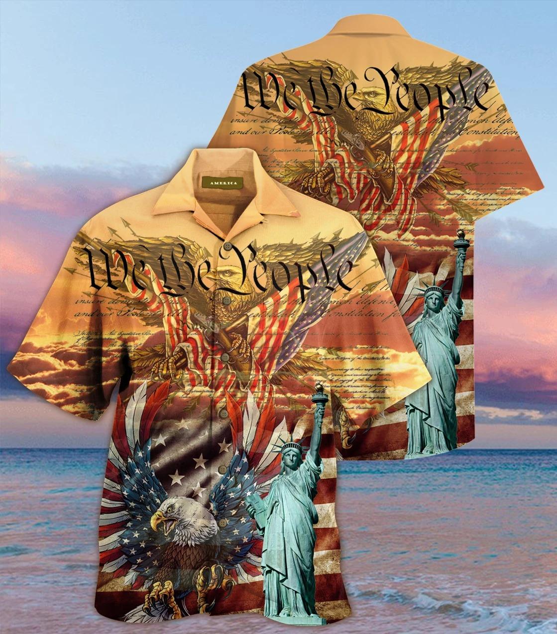Patriotism american eagle we the people hawaiian shirt