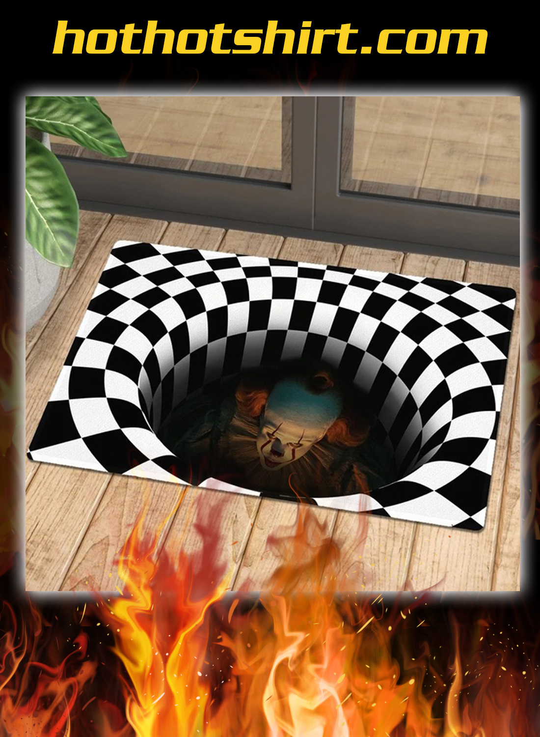 Pennywise it illusion doormat 2
