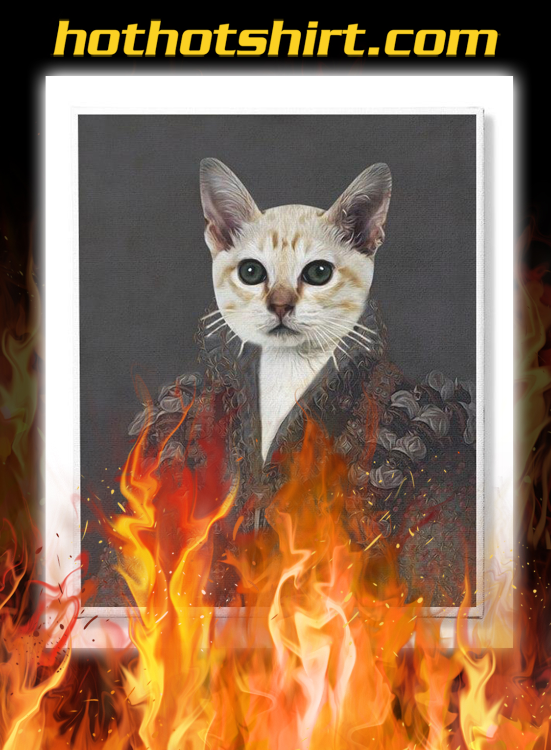 Personalized custom cat and pet photo canvas prints- pic 2