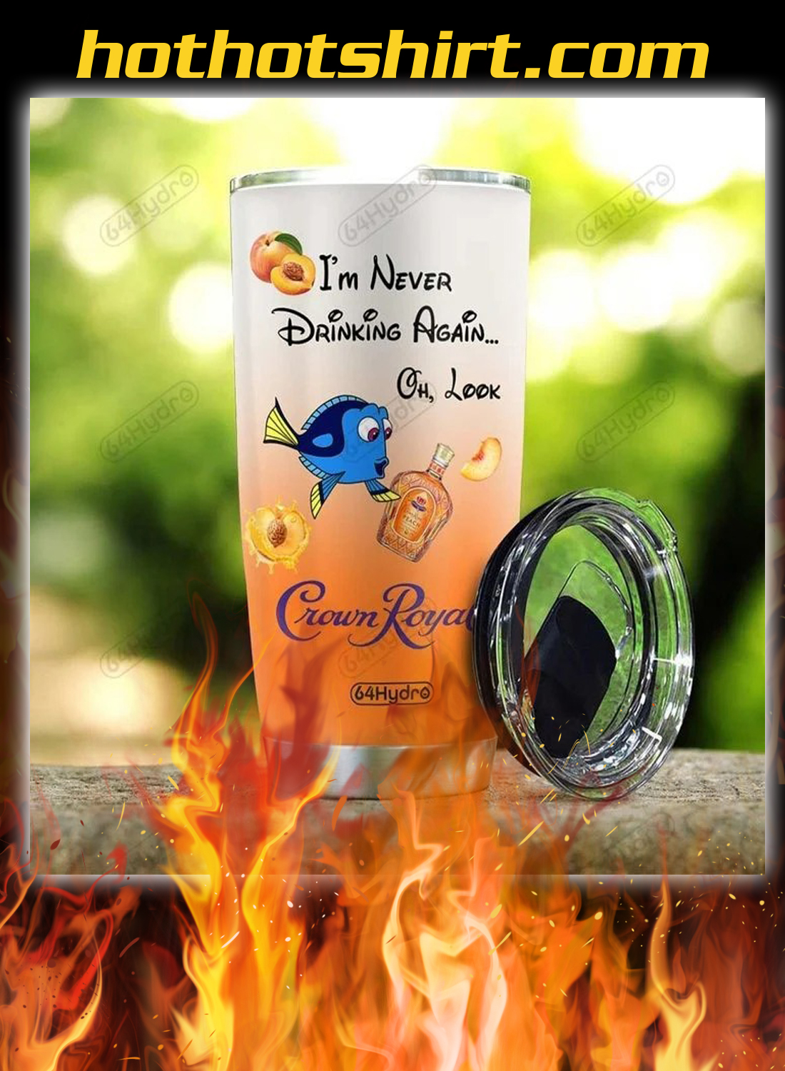 Personalized custom name dory i'm never drinking again crown royal tumbler 1