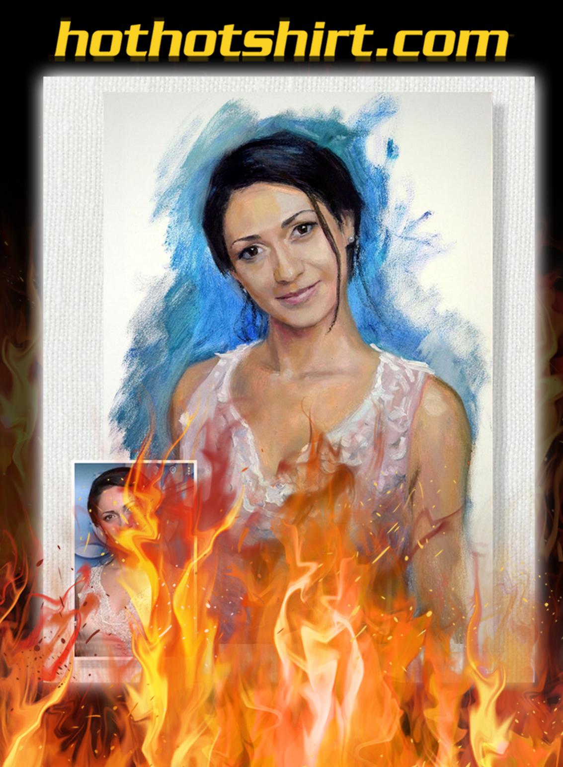 Personalized custom photo oil portrait renaissance painting- pic 1