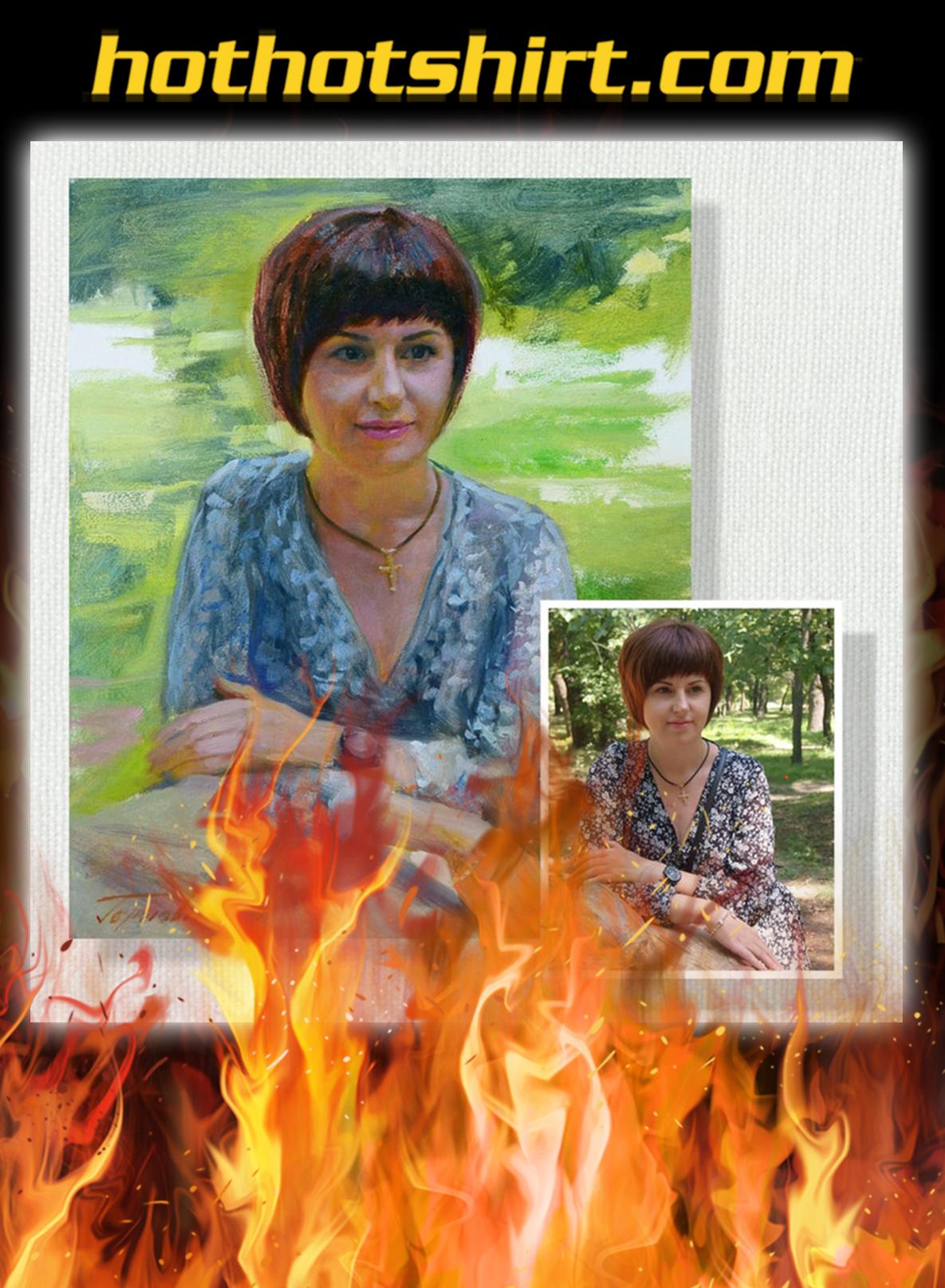 Personalized custom photo oil portrait renaissance painting- pic 3