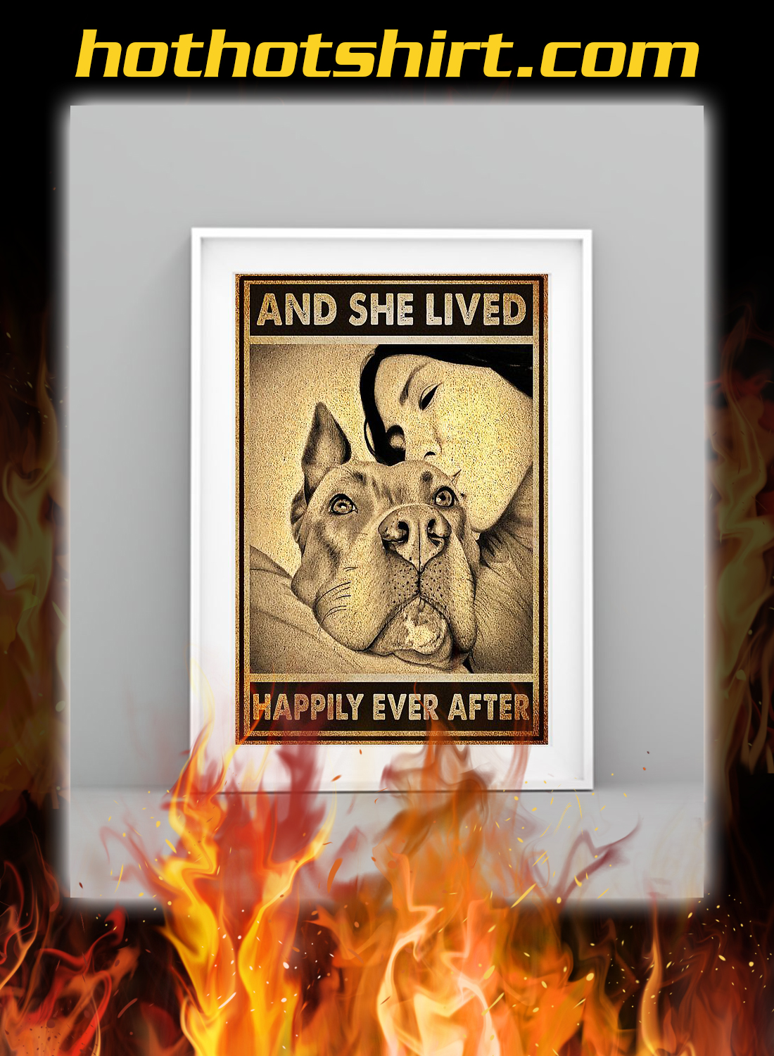 Pitbull and she lived happily ever after poster 1