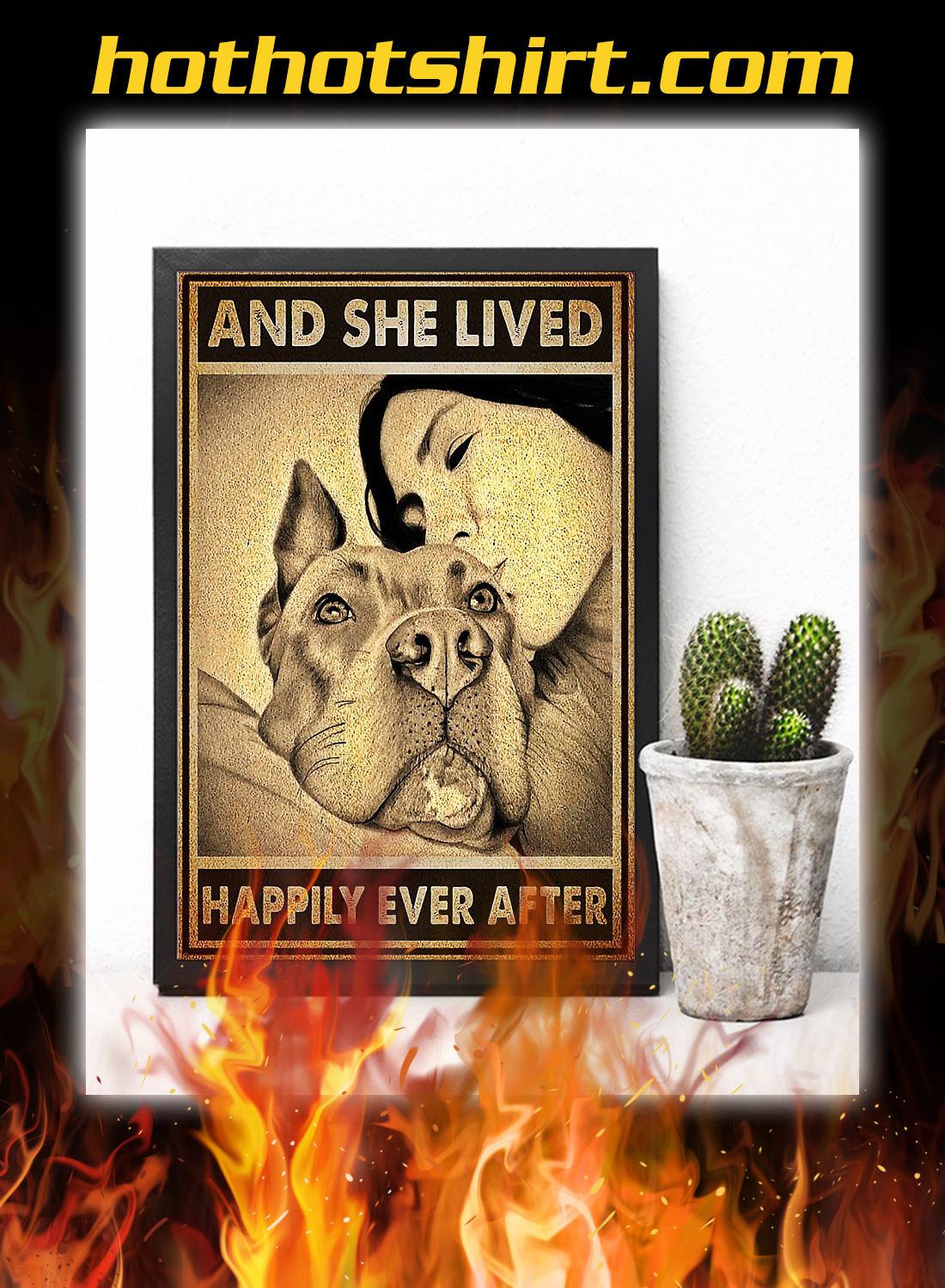 Pitbull and she lived happily ever after poster 2