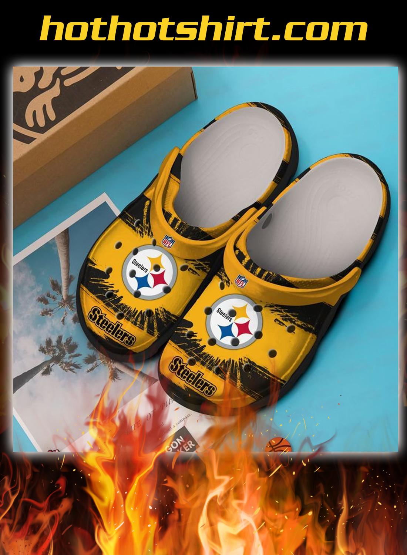 Pittsburgh steelers crocband crocs shoes 1