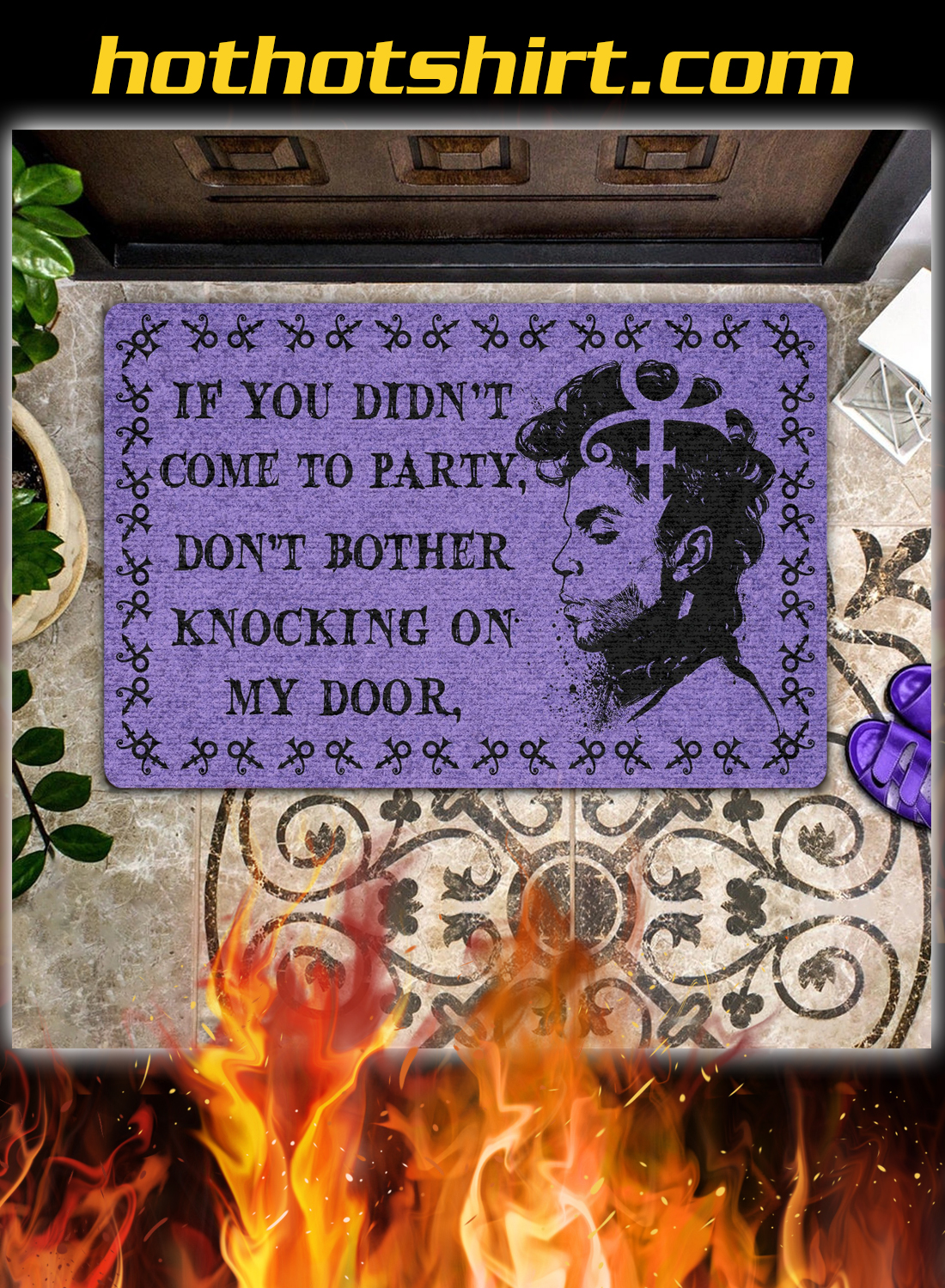 Prince If you didn't come to party don't bother knocking on my door doormat - detail