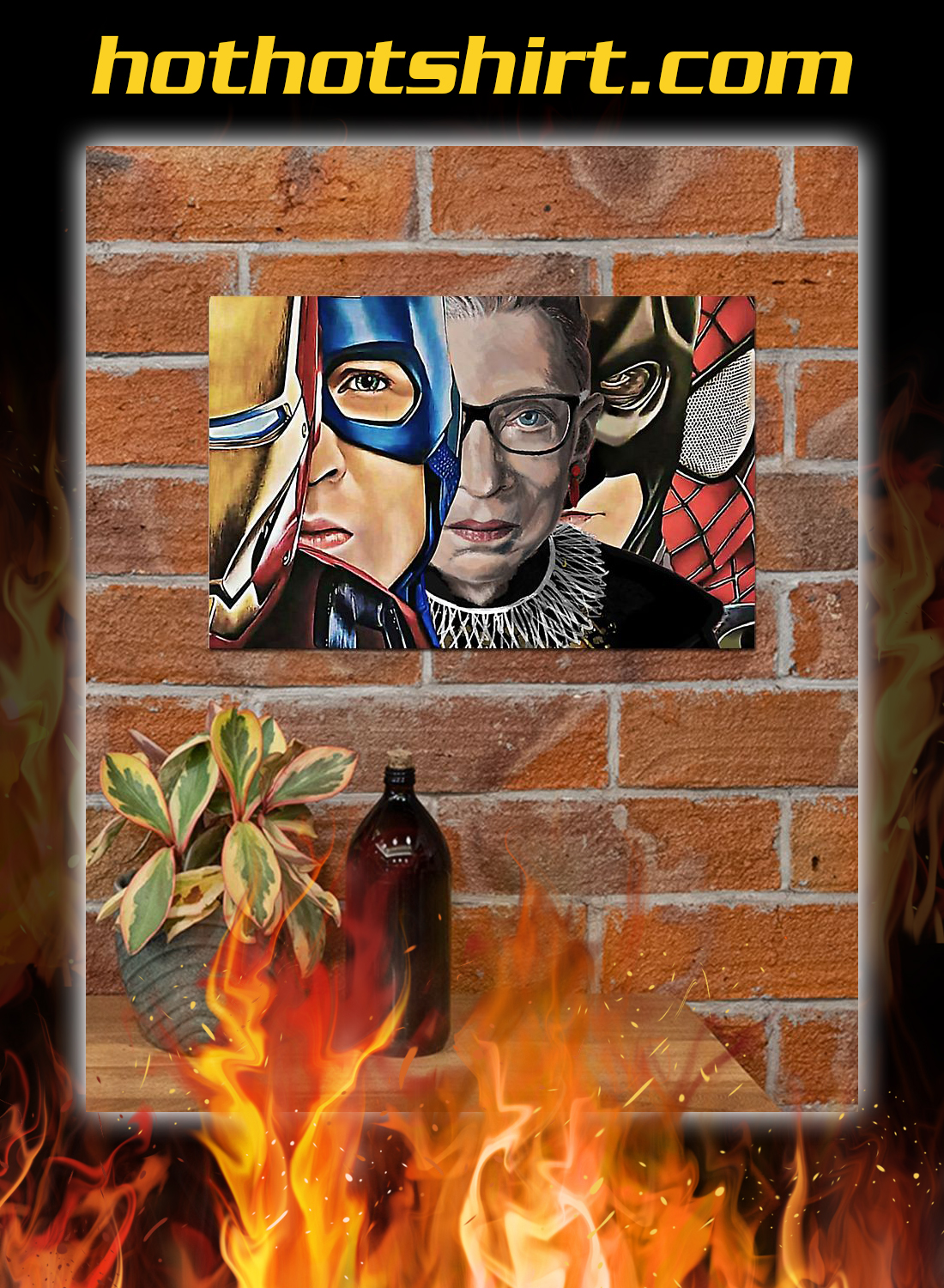 RBG with superheroes poster 2