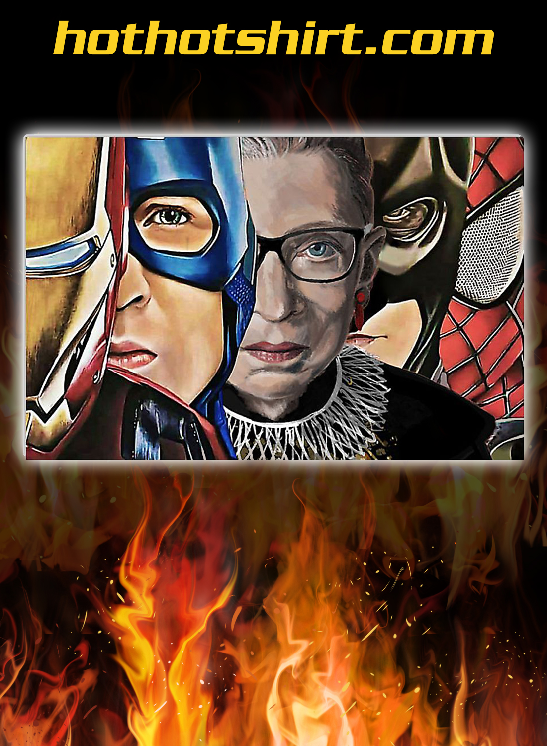 RBG with superheroes poster 3
