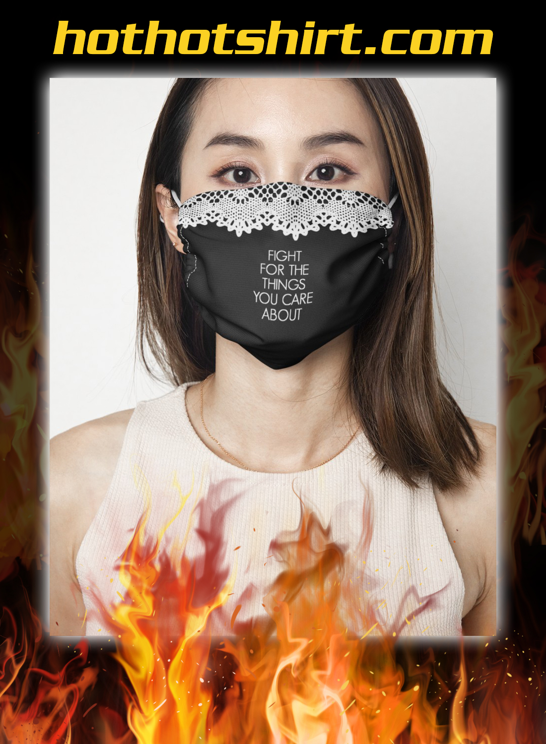 Rbg collar fight for the things you care about face mask 1