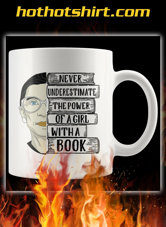 Ruth bader a girl with a book mug 1