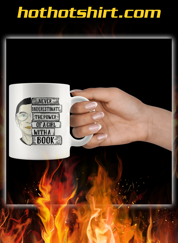 Ruth bader a girl with a book mug 2
