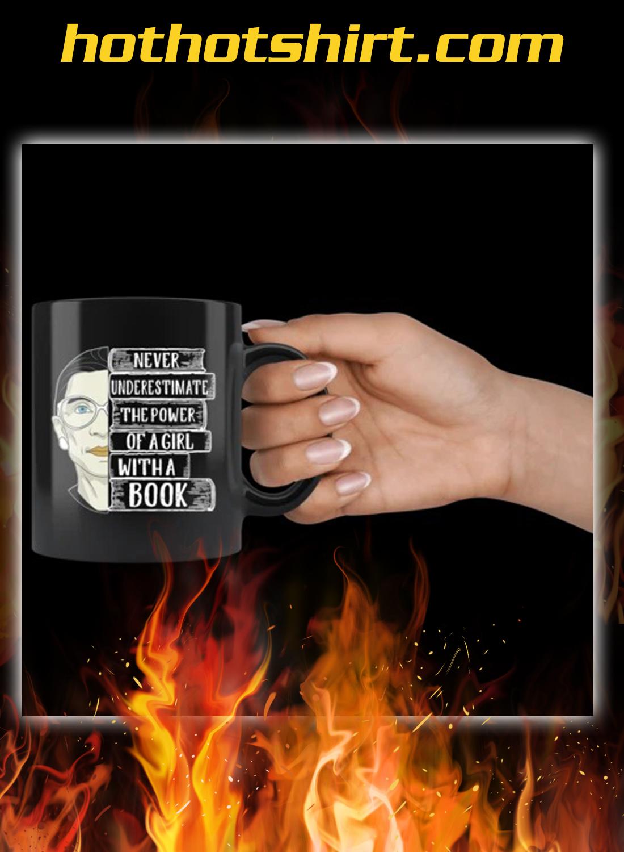 Ruth bader a girl with a book mug 3