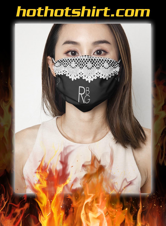 Ruth bader ginsburg collar face mask ad