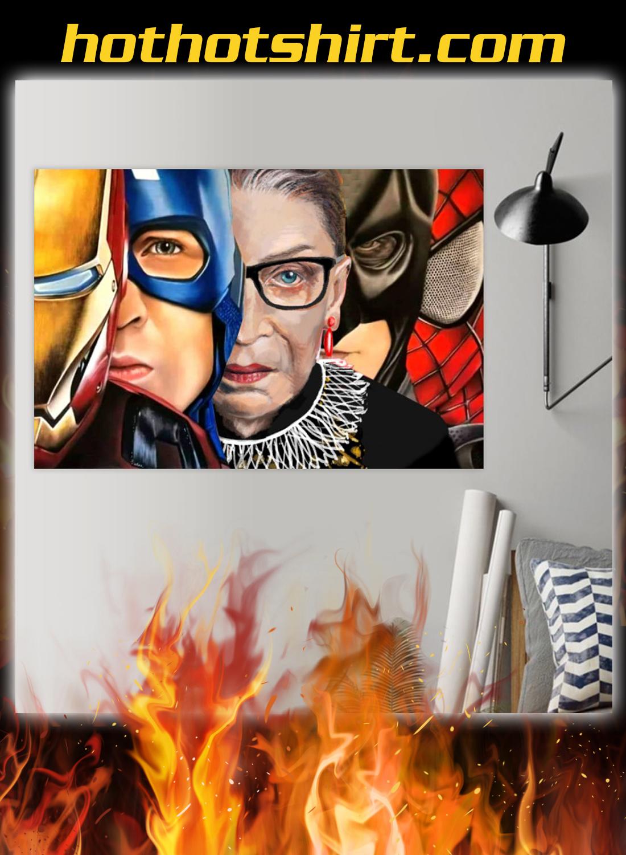 Ruth bader ginsburg super heroes poster 1