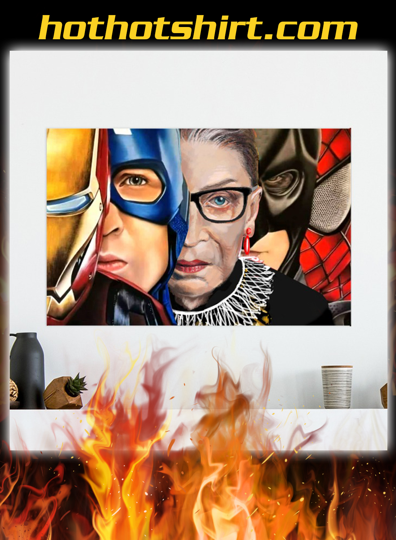 Ruth bader ginsburg super heroes poster 2