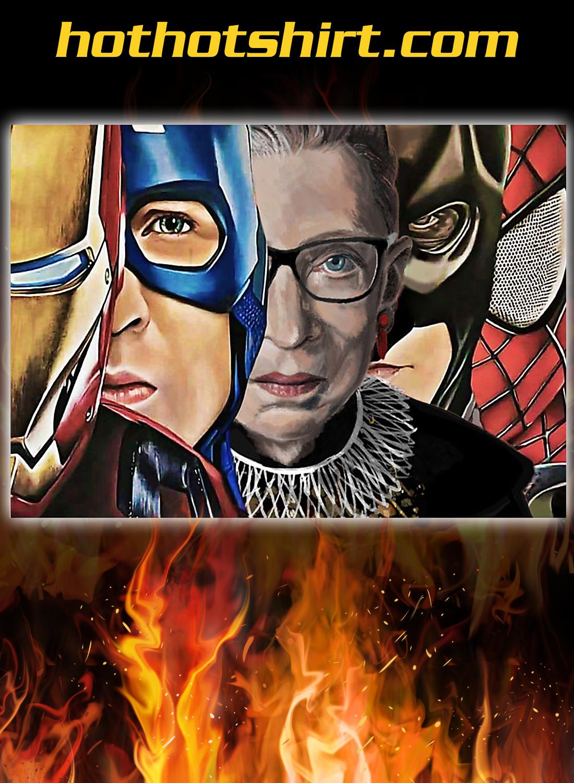 Ruth bader ginsburg superheroes poster 2