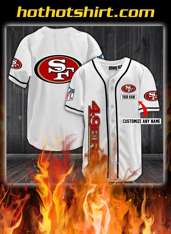 San francisco 49ers customize name baseball shirt 2