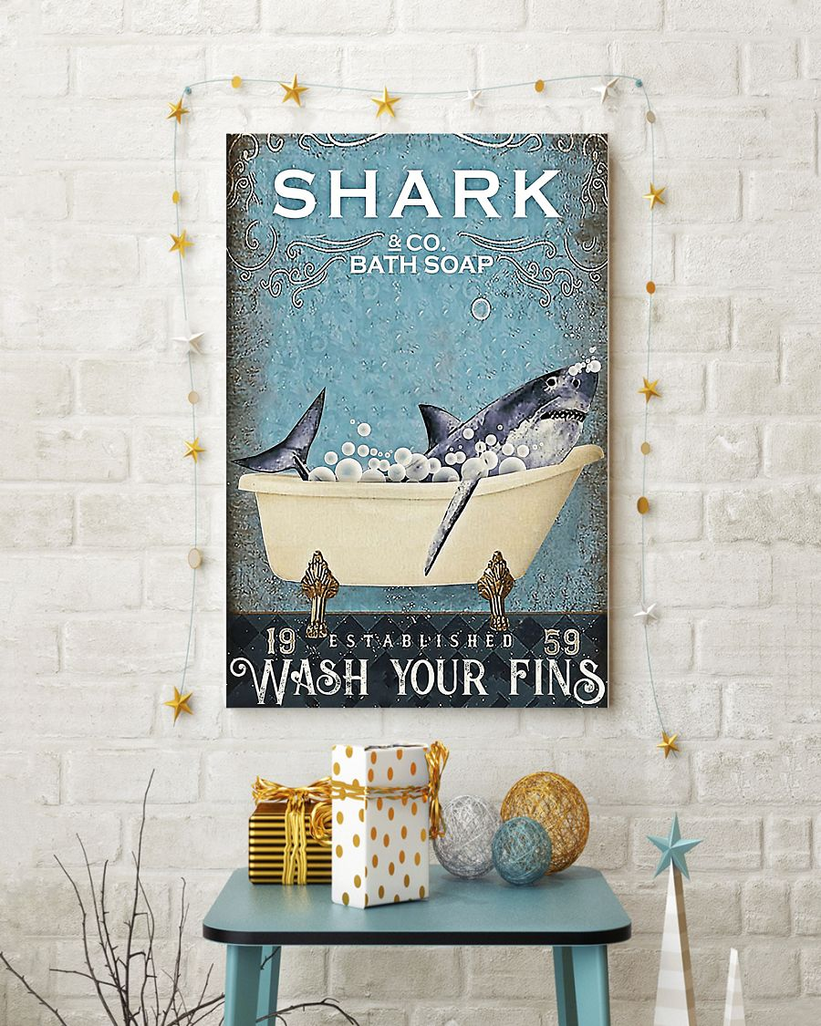 Shark and co bath soap poster 1