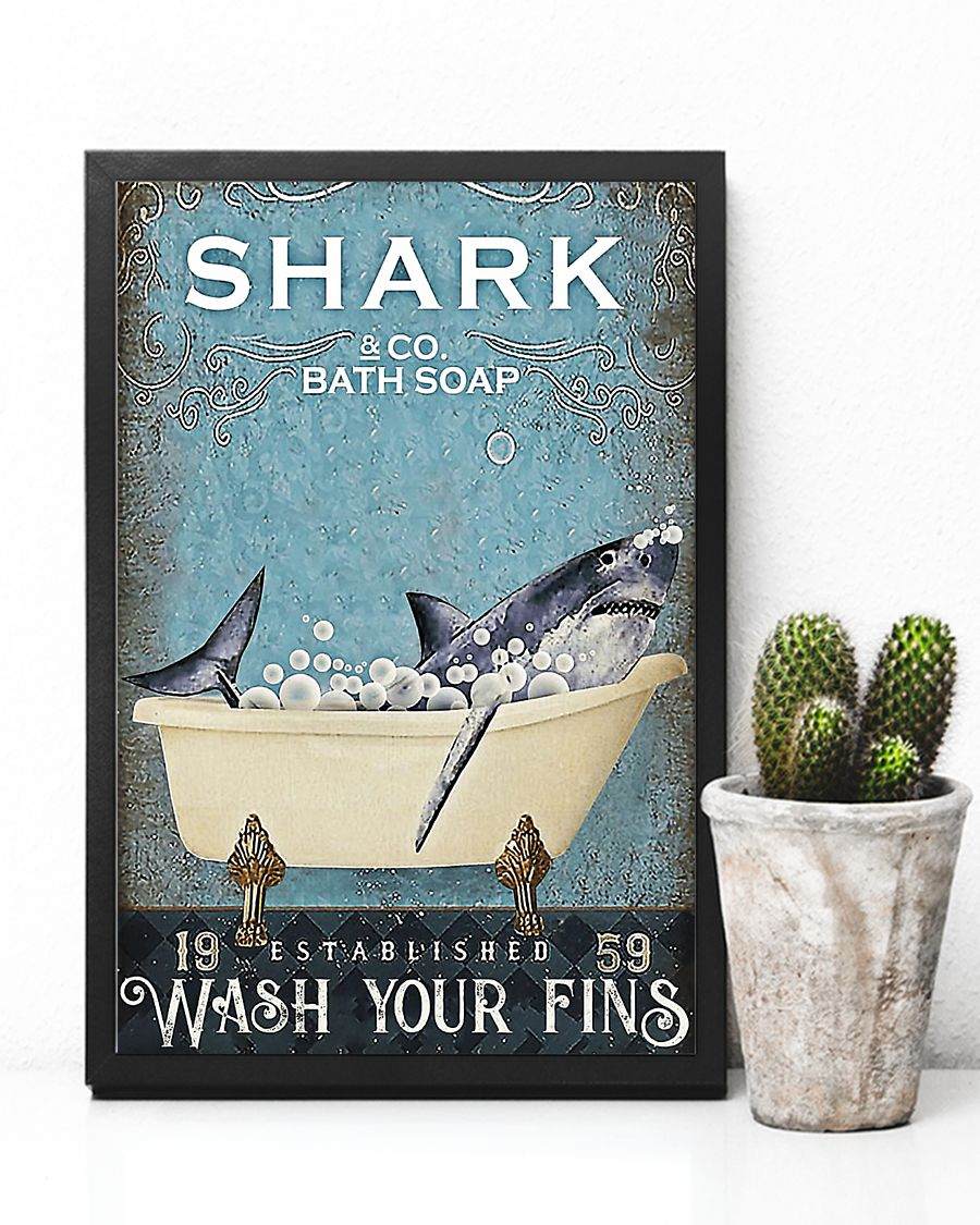 Shark and co bath soap poster 2