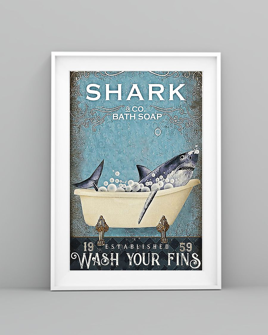 Shark and co bath soap poster 3