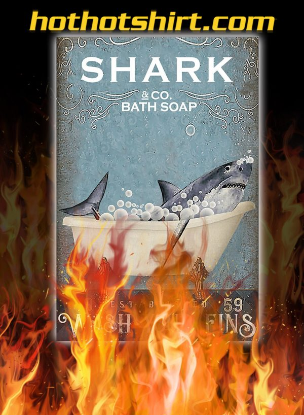 Shark and co bath soap poster