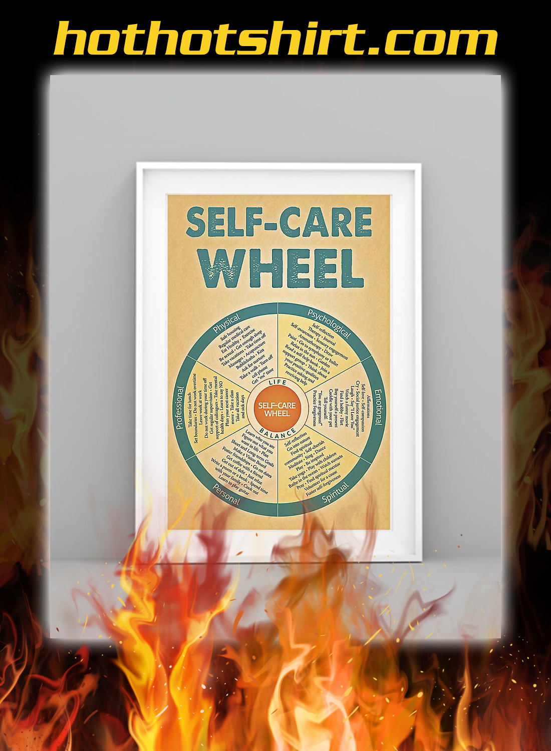 Social worker self care wheel poster 1