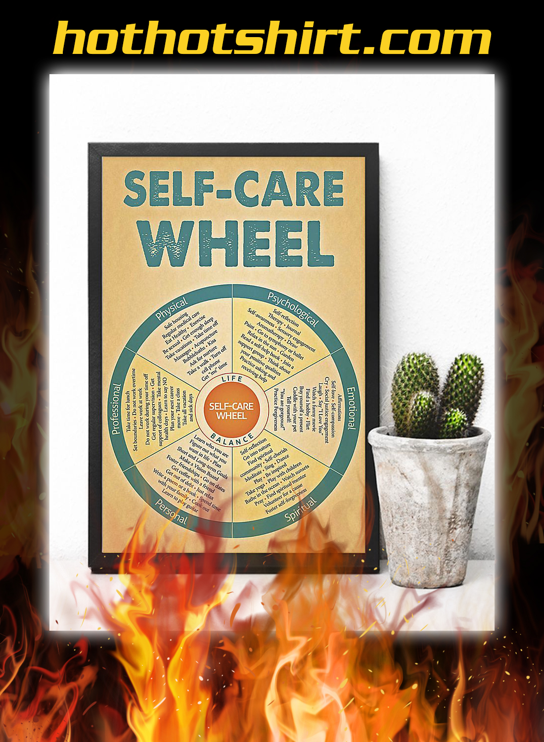 Social worker self care wheel poster 2