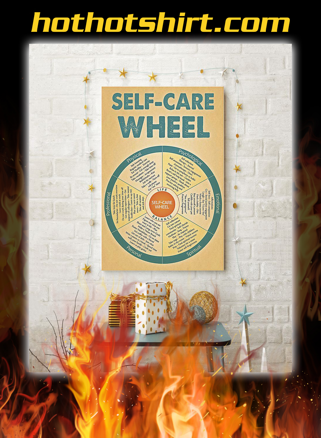 Social worker self care wheel poster 3