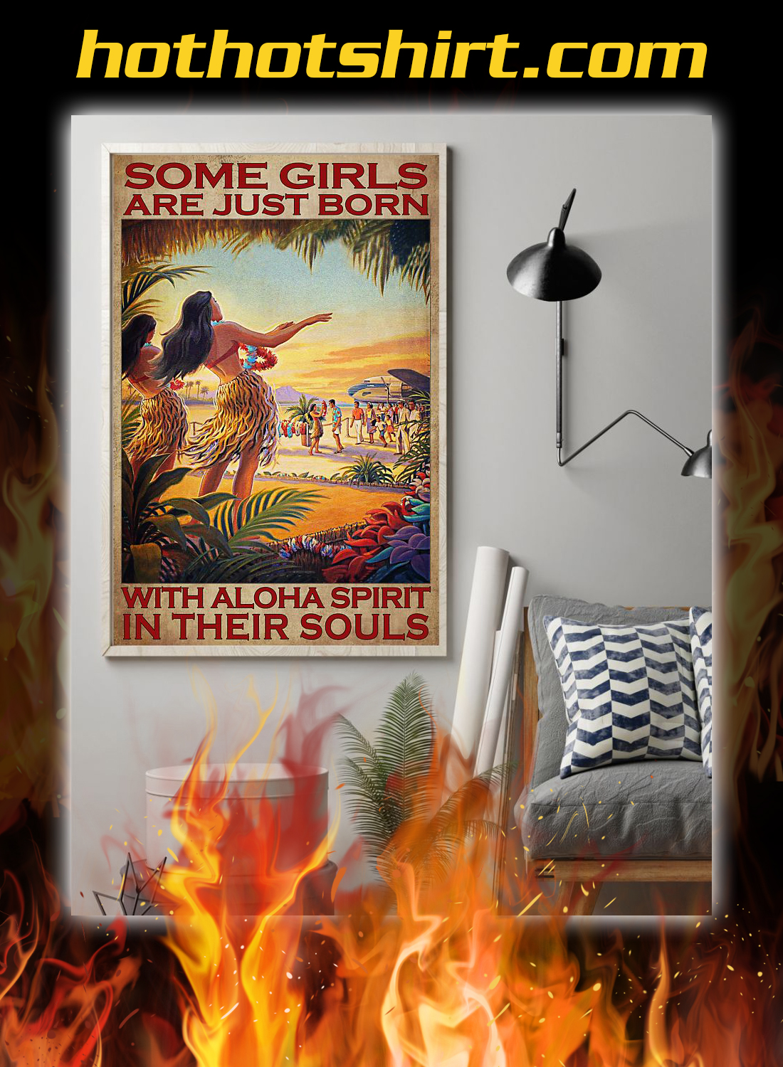 Some girls are just born with aloha spirit in their souls poster 1