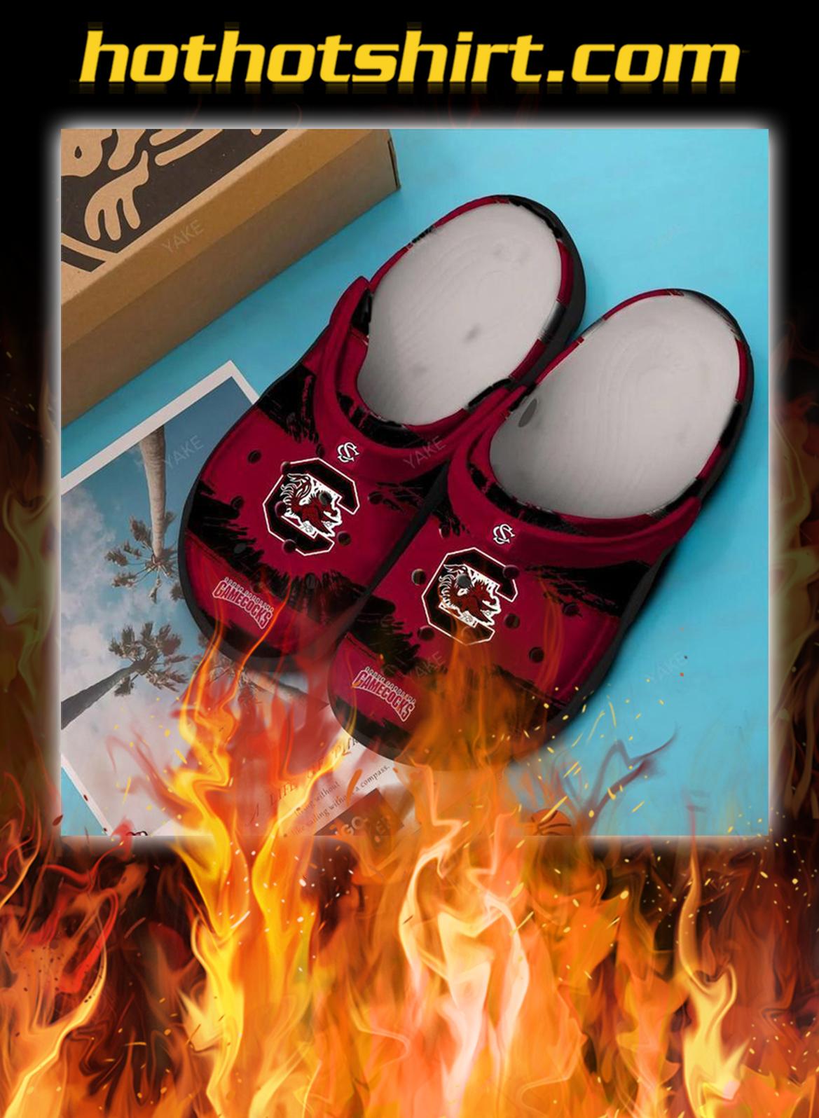 South carolina gamecocks football crocband crocs shoes- pic 1
