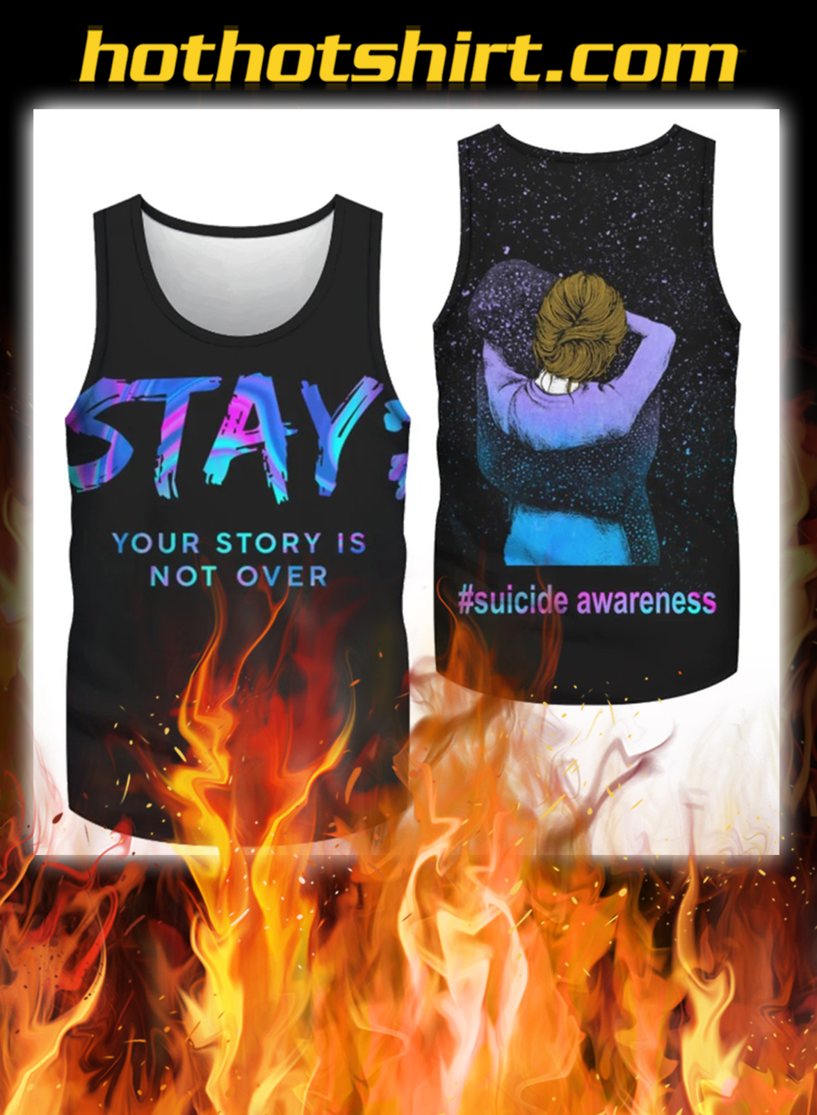 Suicide awareness stay your story is not over 3d full print tank top