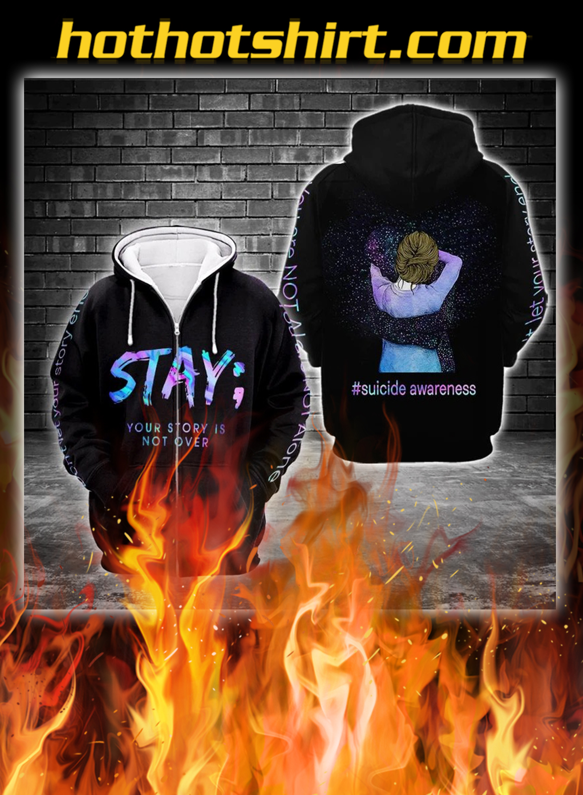 Suicide awareness stay your story is not over 3d full print zip hoodie