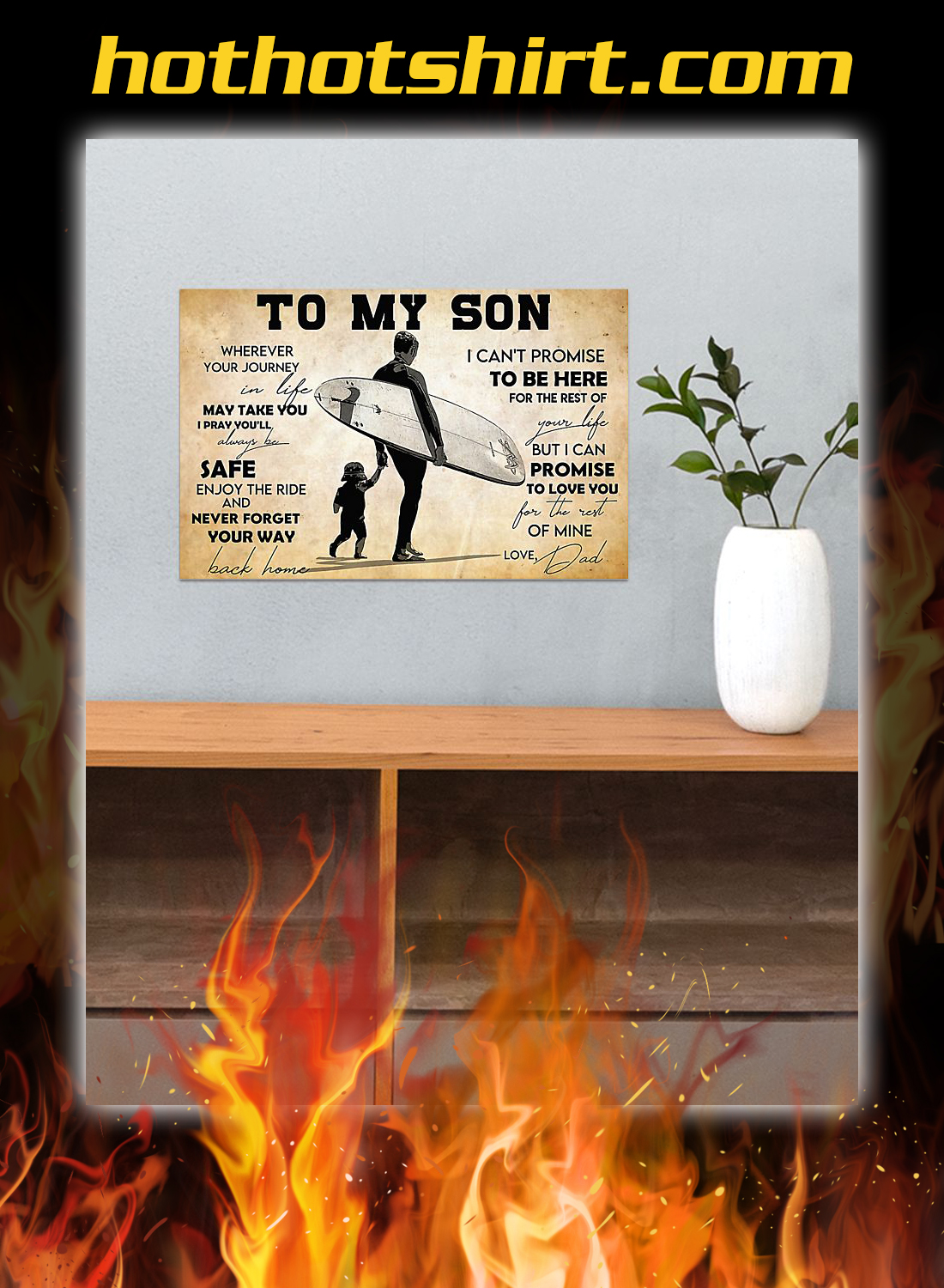 Surfing to my son dad poster 3