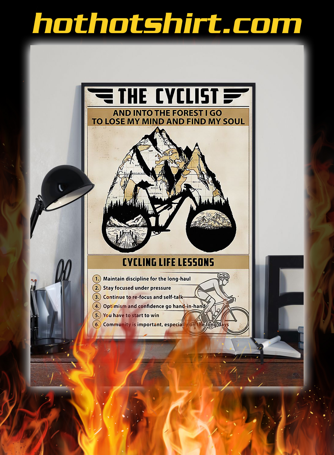 The cyclist cycling life lessons poster 1